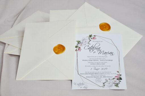 Invitatie Catalina cu trandafiri