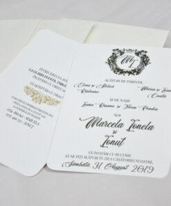 Invitatie Marcela auriu