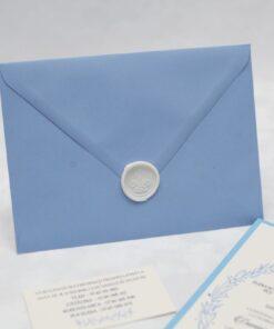 Invitație nuntă Blue Wave