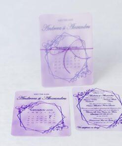 Invitatie nunta Fine purple
