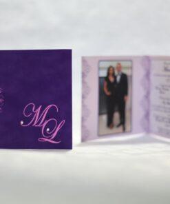 Invitație nuntă Purple Love