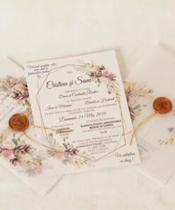 Invitatie Nunta Roses Parfumme
