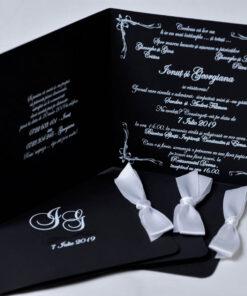 Invitatie nunta Black & White