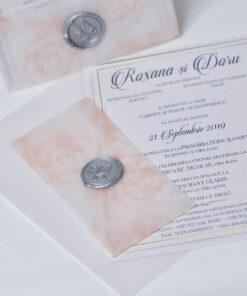 Invitatie nunta Soft Roses