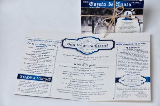Invitatie nunta Gazeta albastra