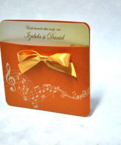 Invitatie Nunta Note muzicale