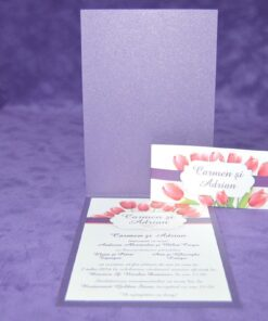 Invitatie Nunta Red Tulip